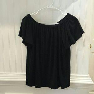 Halogen Women's Black Short Sleeve Blouse
